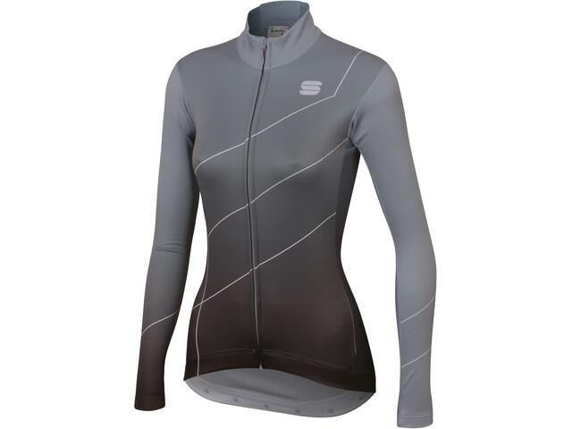 Sportful Shade Longsleeve Jersey Dames, cement/black